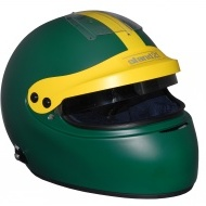 Stock green Vintage IVOS-Double Duty helmet with peak