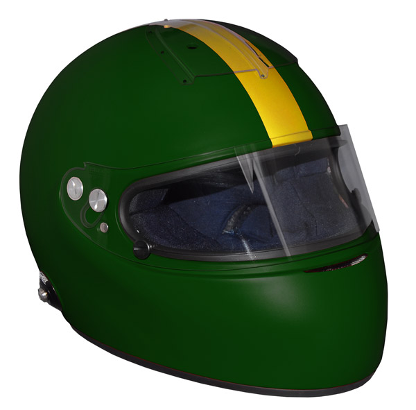 Stock green Vintage IVOS-Double Duty helmet with visor