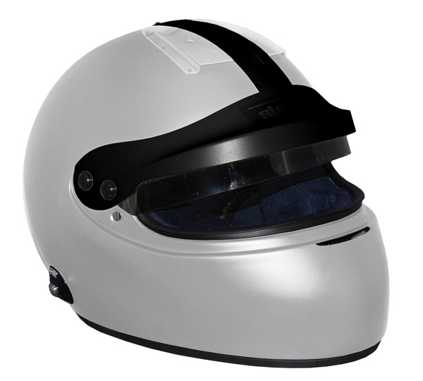 Stock grey Vintage IVOS-Double Duty helmet with peak