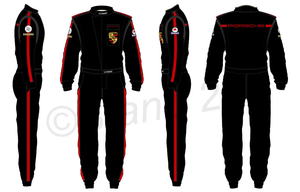 Porsche Rennsport black design suit