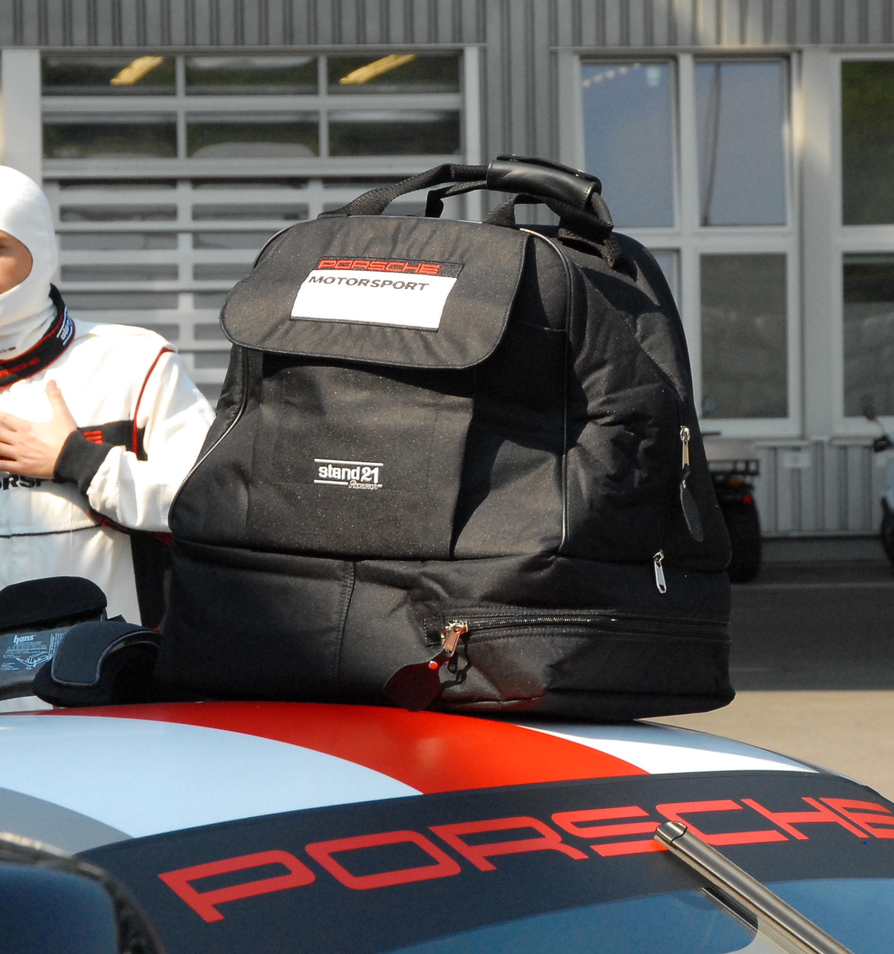 Porsche Motorsport helmet/HANS<sup>®</sup> carrying bag