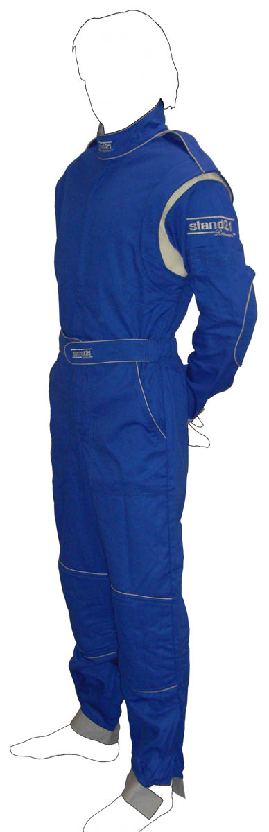 Stock royal blue with grey piping MC2 technical staff suit