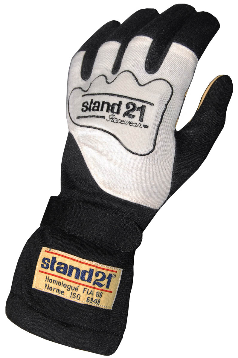 Stock black Carrera gloves