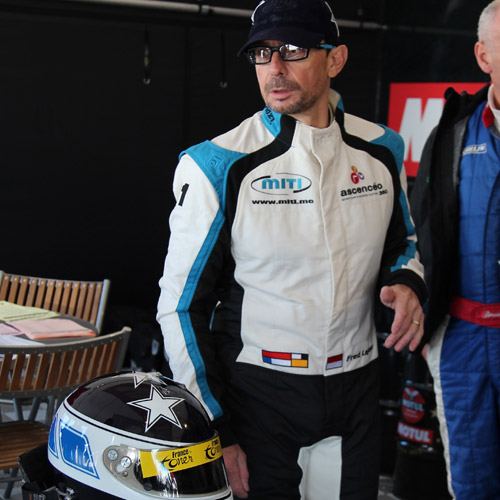 ''I had a horrific crash last weekend at Le Mans, barrel-roll in the F3 Classic race, at about 80/90 mph, and the safety hoop broke... I was crushed under the car... But miraculously, my Stand 21 equipment (helmet, FHR, and clothing) certainly saved my life.
