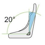 20 degre seat